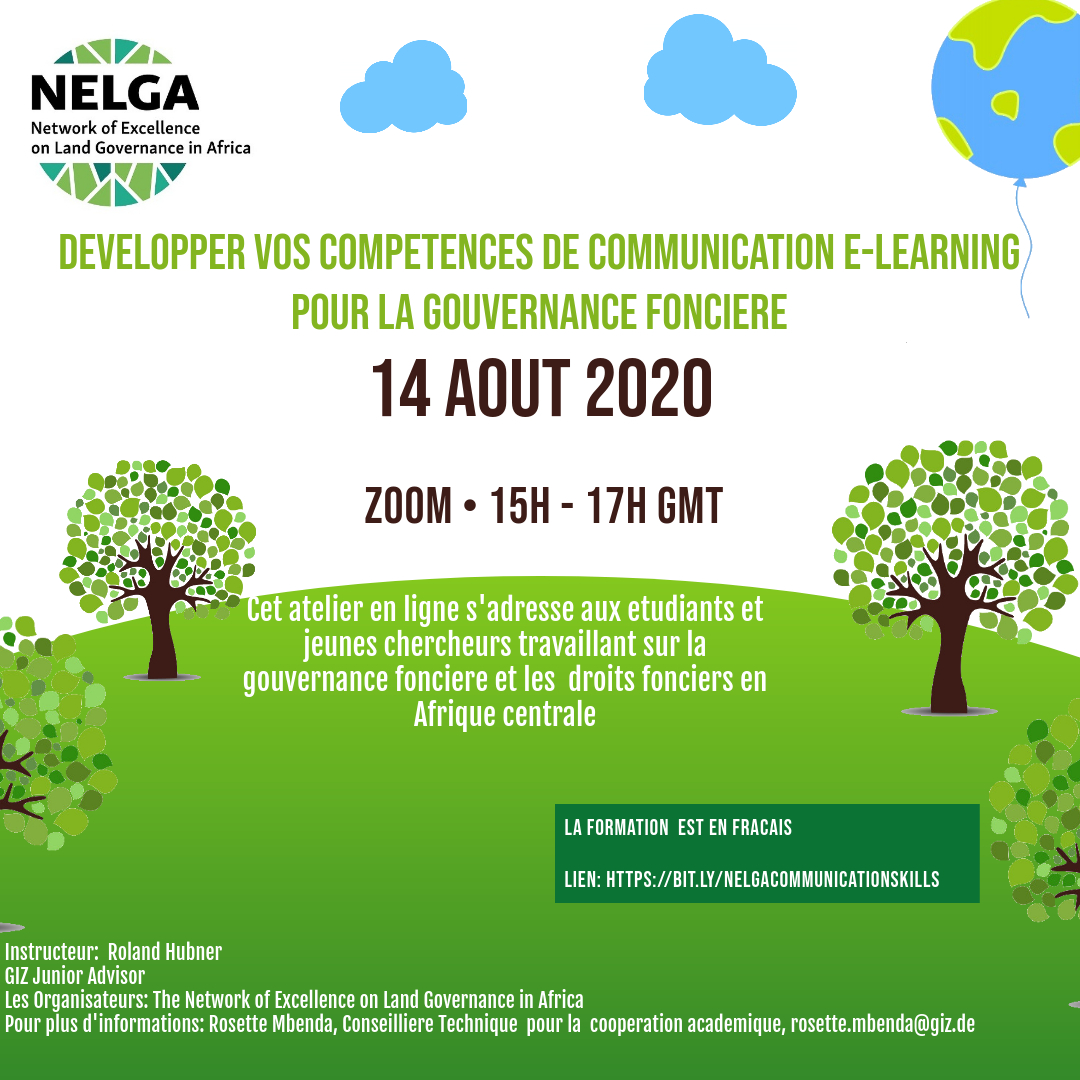 NELGA Central Africa Node Holds Training on Communication for Land Governance