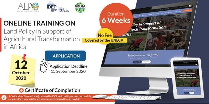 Registration/De Courte Duree: Politique et Gouvernance Foncière à l'Appui de la Transformation Agricole en Afrique