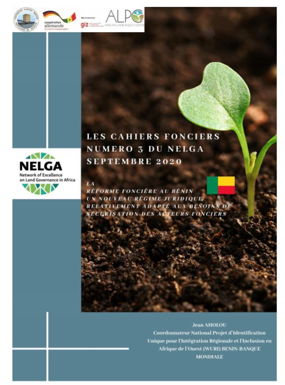 Land Tenure Insecurity and Urbanization in Benin – NELGA Land Register Francophone West Africa