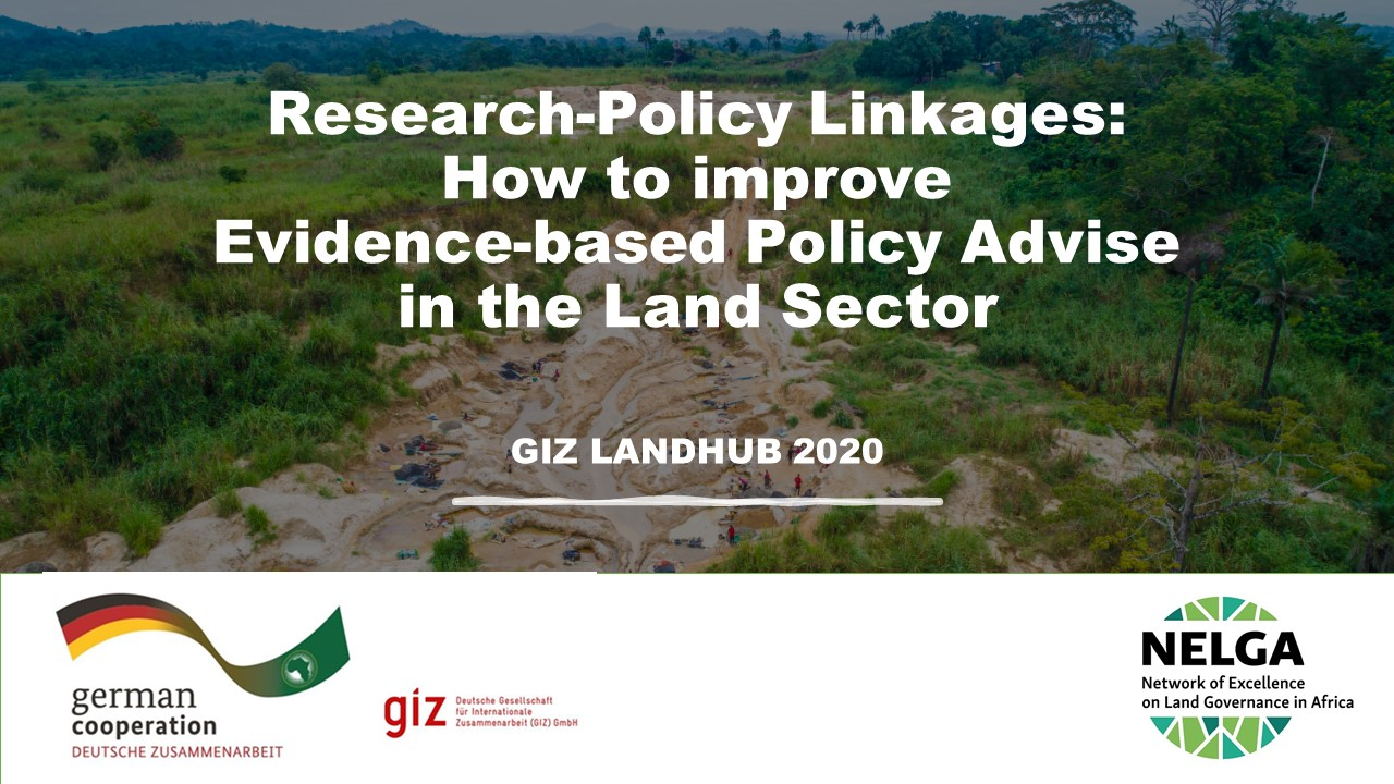 Land Governance Panel at GIZ Landhub 2020 Meeting Highlights Best Practices for Research-Policy Linkages