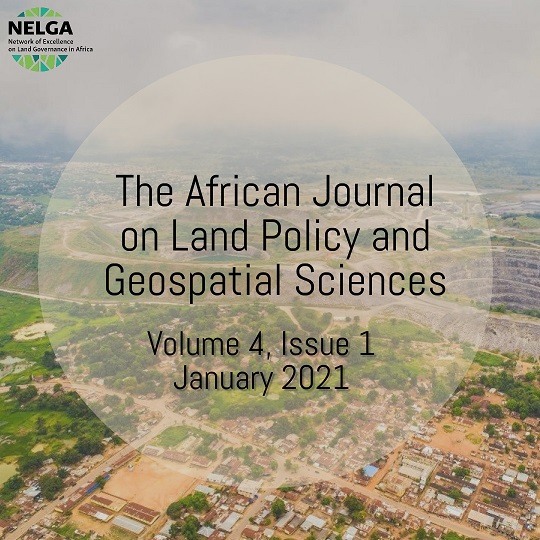 The African Journal on Land Policy and Geospatial Sciences Releases Its 1st Issue of 2021