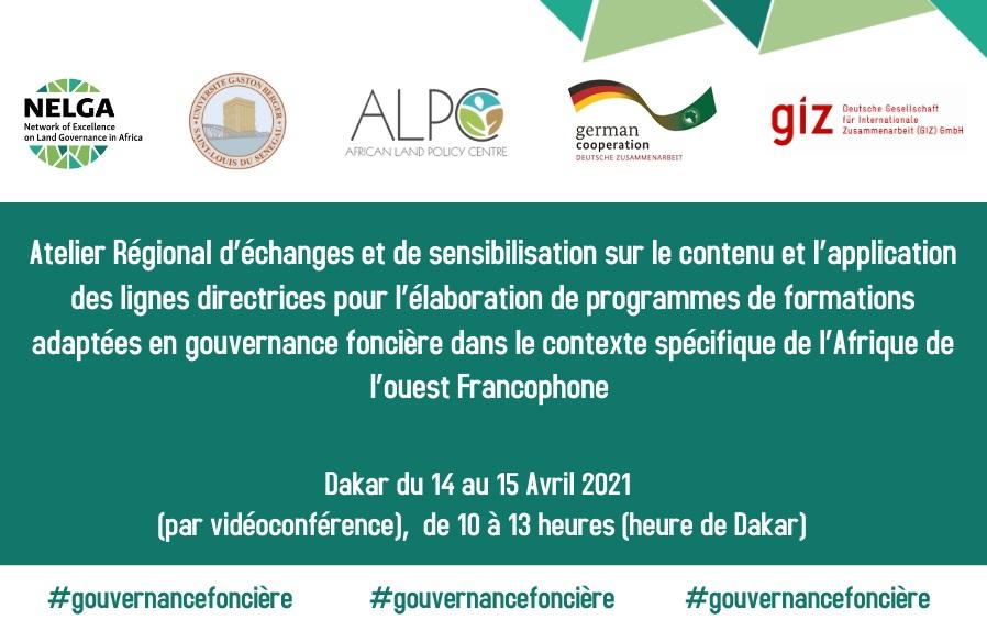 Les universités francophones d'Afrique de l'Ouest commencent un atelier sur l'adaptation du programme de gouvernance foncière pour répondre à l'agenda de l'UA sur la terre