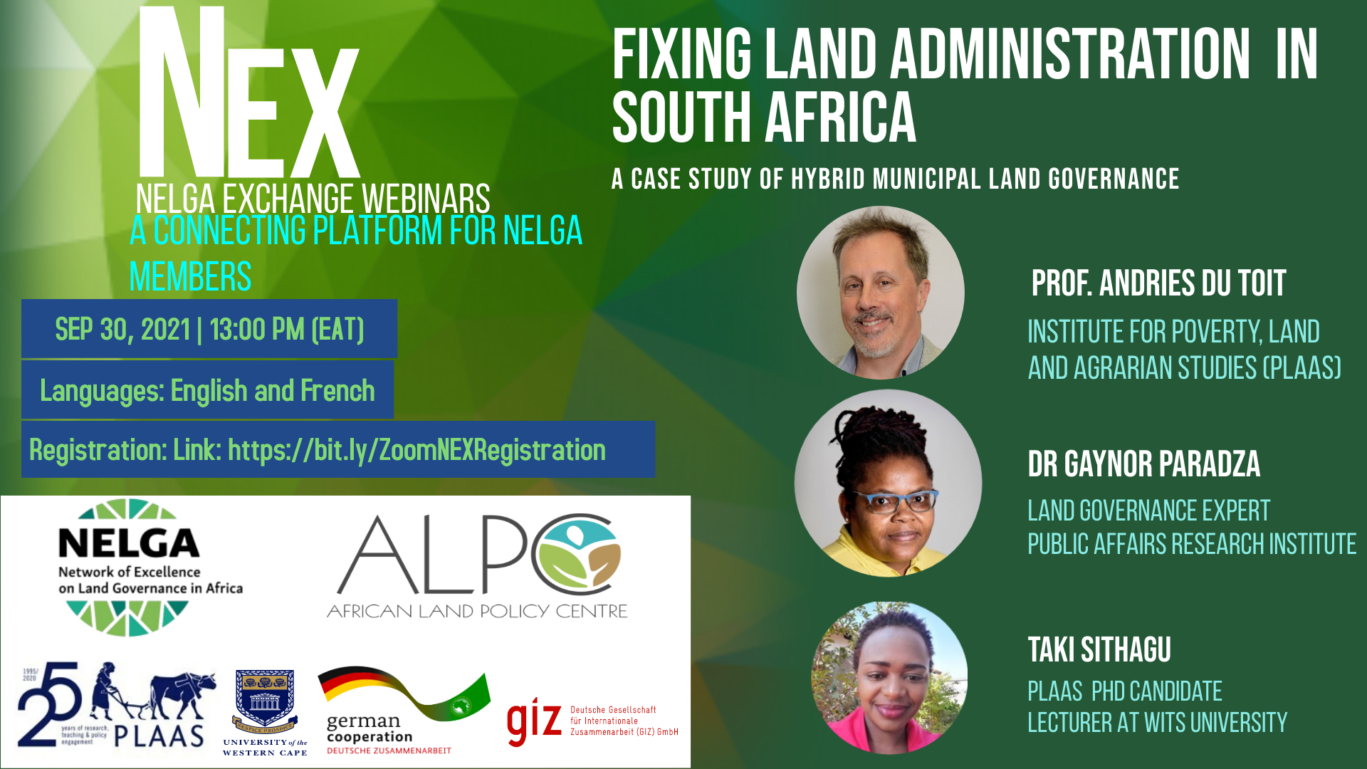 NELGA Knowledge Exchange on Land Governance in Africa   I   Focus- Southern Africa
